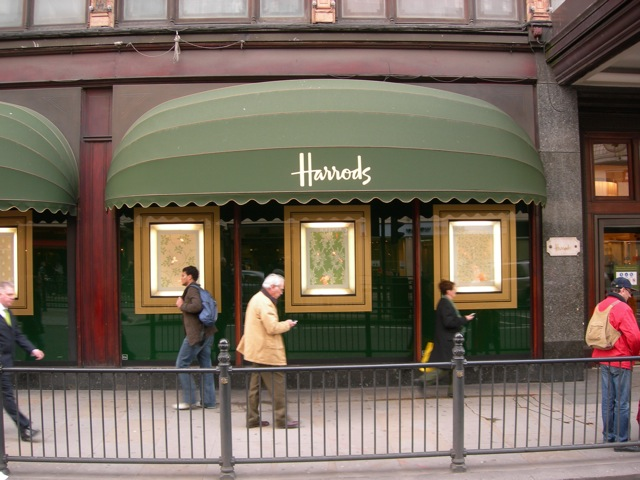 Harrods Department Store, the epitome of British opulence